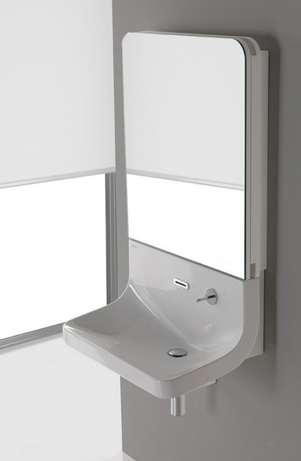 blend sink mirror combo is a style statement