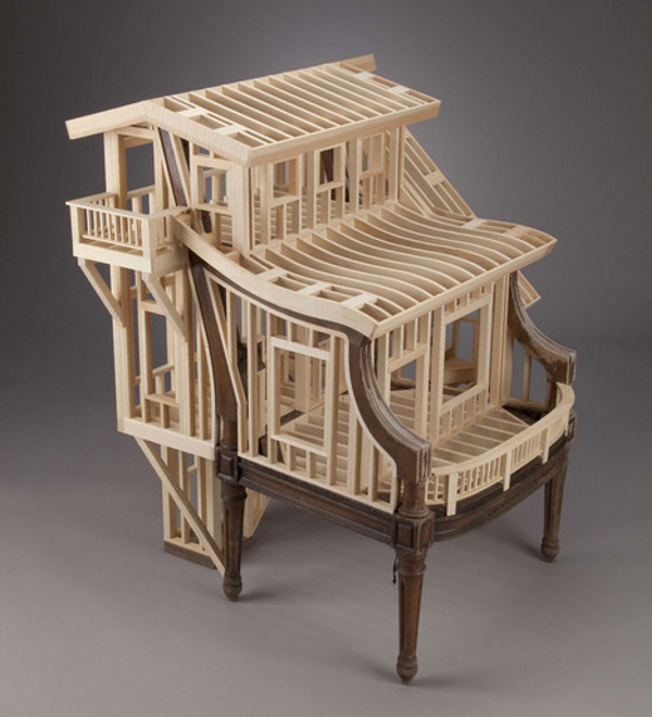 Sit Stay by Ted Lott 11 Sit/Stay by Ted Lott Explores Sculptural House Framing