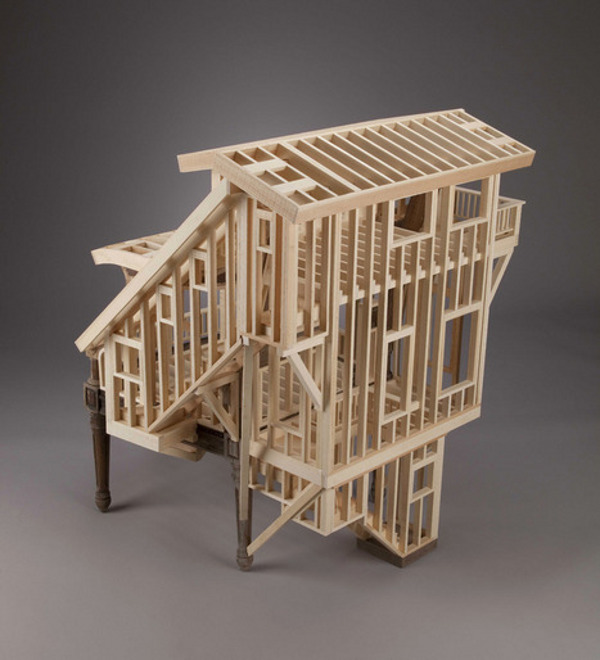 Sit Stay by Ted Lott 21 Sit/Stay by Ted Lott Explores Sculptural House Framing