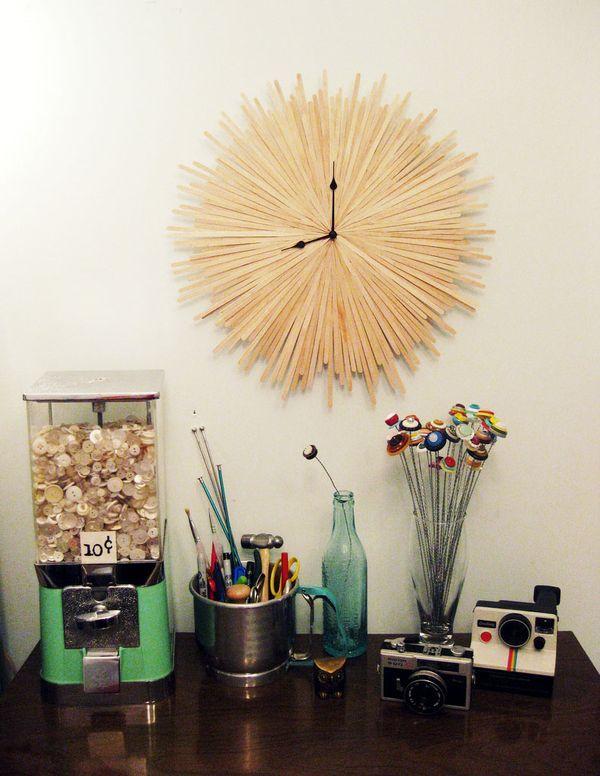 Starbust DIY clock 6