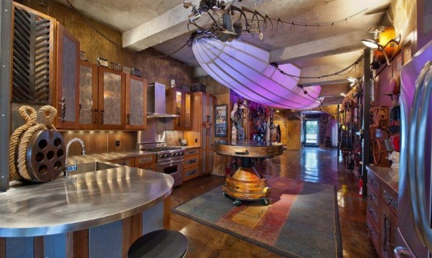 surreal steampunk apartment in chelsea is stylishly designed - Steampunk Interior Design Ideas