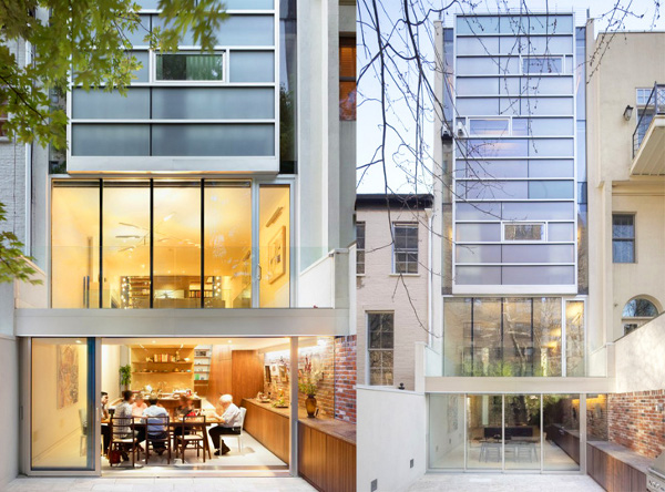 Urban Town House by Peter Gluck 8