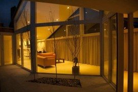Transparent Villa Stands on Glass Walls