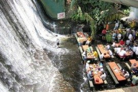 Villa Escudero with waterfall restaurant is the most beautiful dining experience one can have