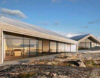 Cedar-dressed Villa Flattarna overlooking the North Sea