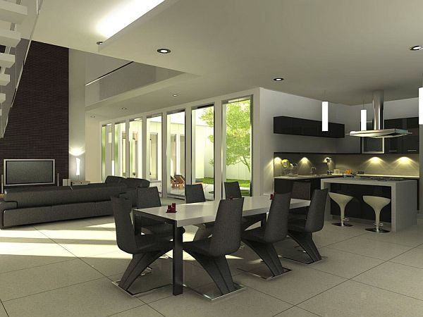 Dining Room Design 2014 contemporary dining room design 2014 minimalist polished brown