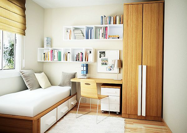 contemporary small bedroom