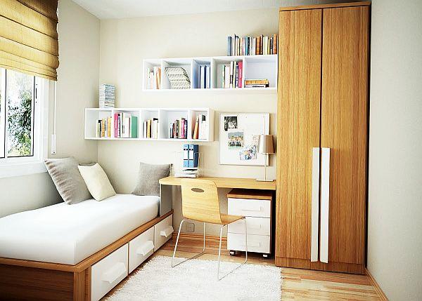 contemporary small bedroom