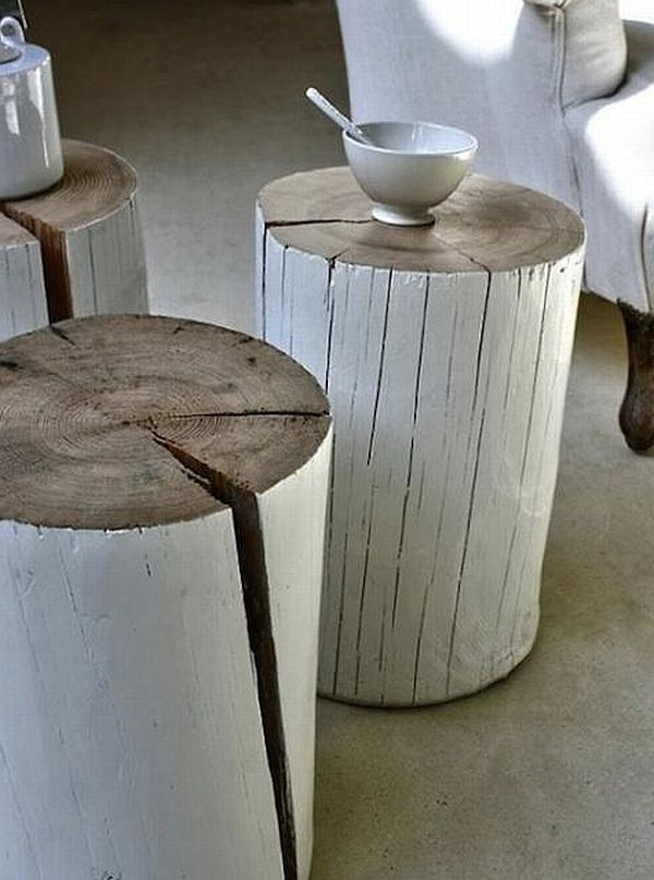 diy log table Remodel Furniture in a Stylish Manner