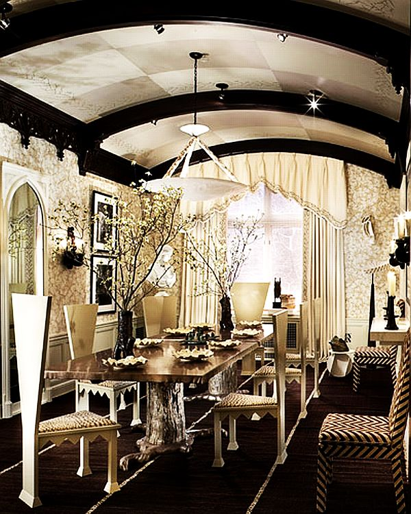 Gothic inspired dining room area decoist for Pictures for dining room area