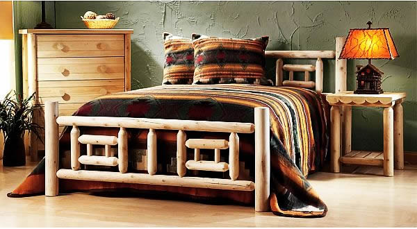 log furniture bedroom design