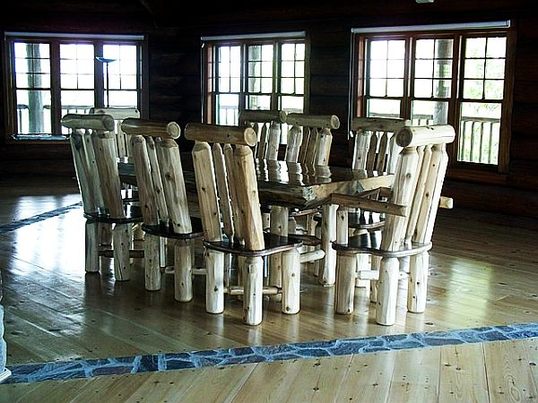log furniture dining room Log Furniture Is Cool, Has Warmth & Style