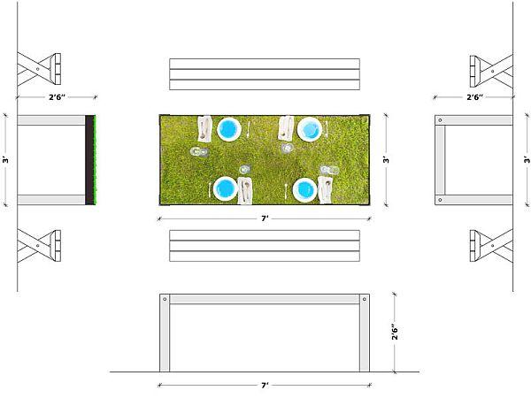 picNYC Real Grass Table 6