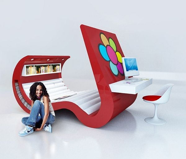 wave chaise teenage furniture