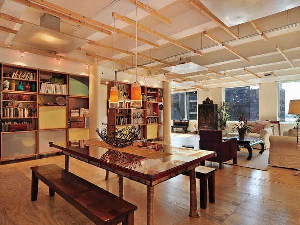 481 Greenwich Street Pet friendly New York loft punctuated by cement columns