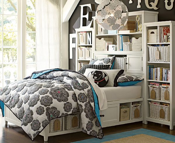 bloom beadboard teenage girls bedroom colorful young girls rooms