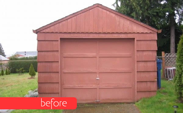 Boring Garage Turned into Fancy Small Home before