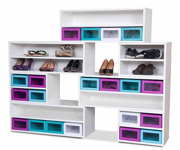Box Base Colorful Shoe Cabinet