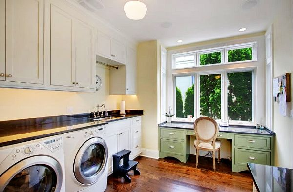 Utility Room Design Ideas craft sewing laundry room idea Laundry Room Cabinets Storage