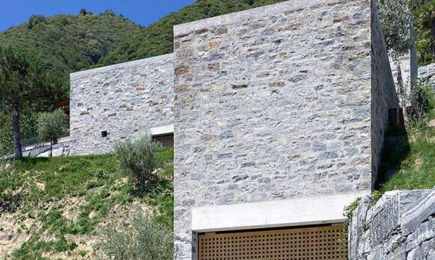 Modern Castle-Resembling Brione House in Switzerland