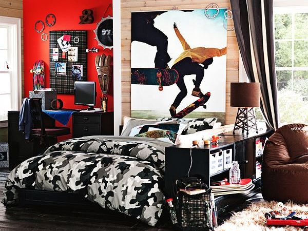 Teen Boys Room Ideas Sports Inspired Teenage Boys Bedroom Ideas Wooden