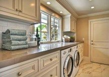 classic laundry room cabinets 217x155 33 coolest laundry room design ideas