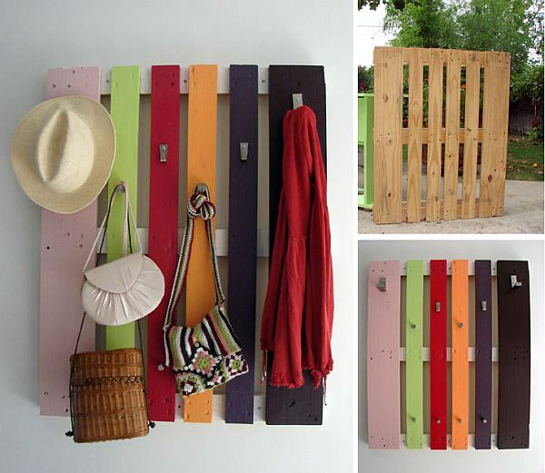 DIY pallet coat rack Ultimate Pallet Furniture Collection: 58 Unique Ideas