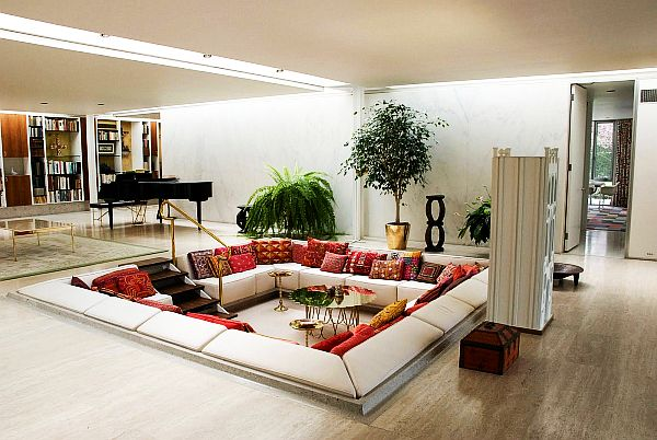 miller house classic mid century modern home for j irwin miller. Black Bedroom Furniture Sets. Home Design Ideas