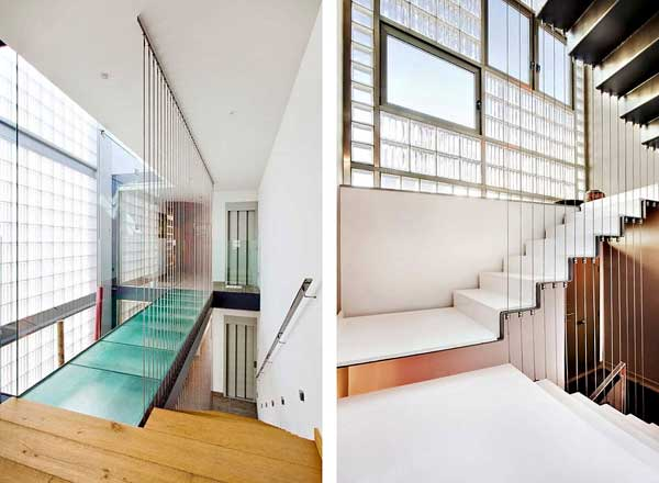 Vertical residence on a small narrow and long property - Narrow house interior design ...