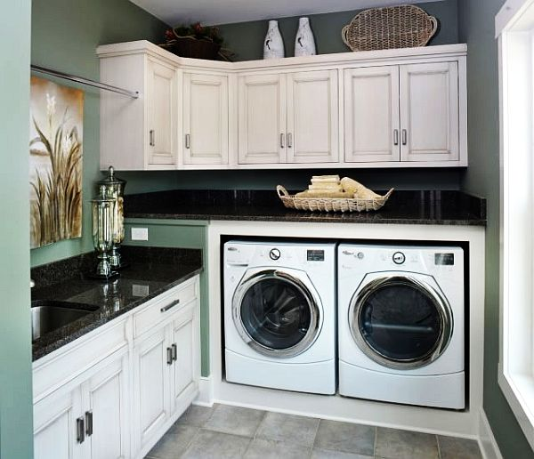 30 coolest laundry room design ideas for today 39 s modern homes for Decorate a laundry room