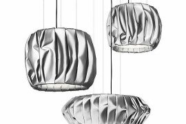 Folded fabric Moon lamps by Färg&Blanche