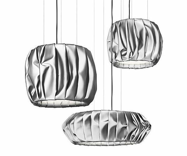 Folded fabric Moon lamps 1
