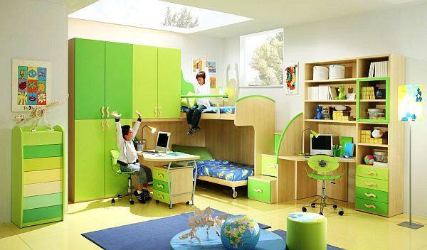 Green Teenage Boys Rooms