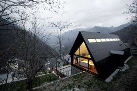Old vernacular house transformed into a modern residence: House in The Pyrenees