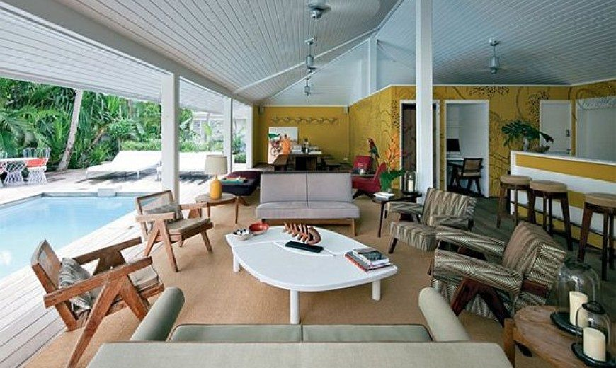 La Banane at St Barts Features Retro Furniture of the 1950s
