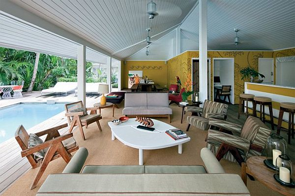 La Banane Hotel St. Barts 1 La Banane at St Barts Features Retro Furniture of the 1950s