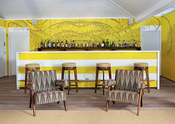La Banane Hotel St. Barts 2 La Banane at St Barts Features Retro Furniture of the 1950s
