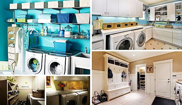 Utility Room Design Ideas laundry room design ideas placing a drying and a washer on top of each other is a smart space saving 33 Coolest Laundry Room Design Ideas