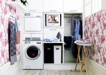 Utility Room Design Ideas laundry room cabinets storage Laundry Room Wallpaper