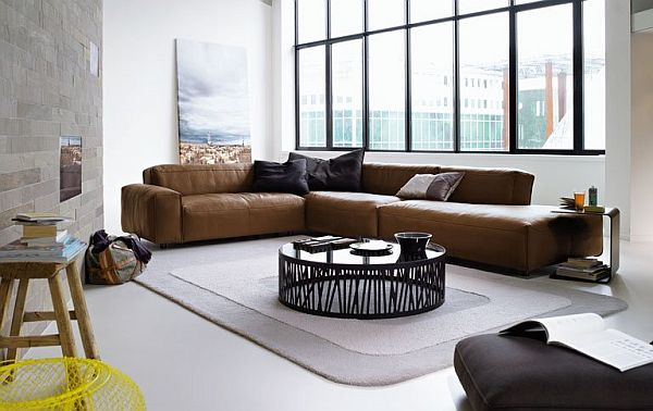 Leather Corner Sofa Rolf Benz MIO 1 Superb Leather Sofa: Rolf Benz MIO by Norbert Beck