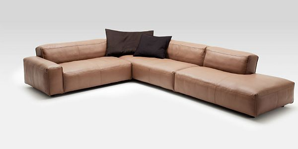 superb leather sofa rolf benz mio by norbert beck. Black Bedroom Furniture Sets. Home Design Ideas