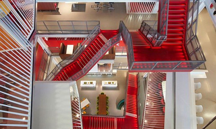 Macquarie Group London Offices Based On Theme Transparency and Privacy