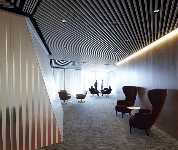 Macquarie group london offices based on theme transparency for Interesting office design