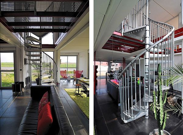 Container house with luxury living spaces for Maison 6 container