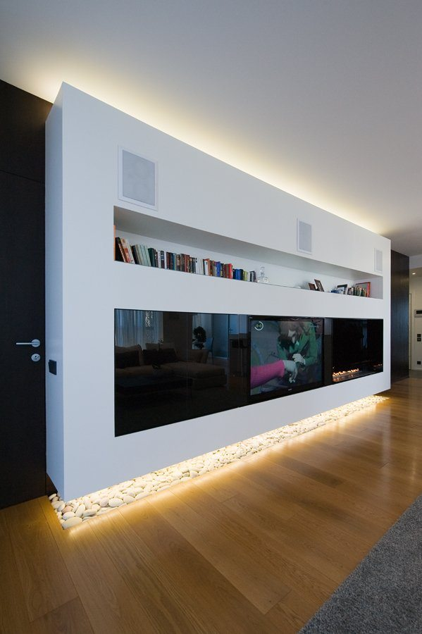 Modern Apartment in Moscow glossy furniture