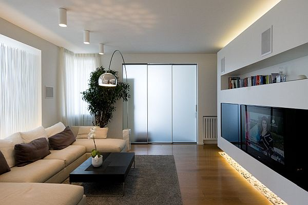 Modern Apartment in Moscow living room Moscow Contemporary Apartment Sports Elegance