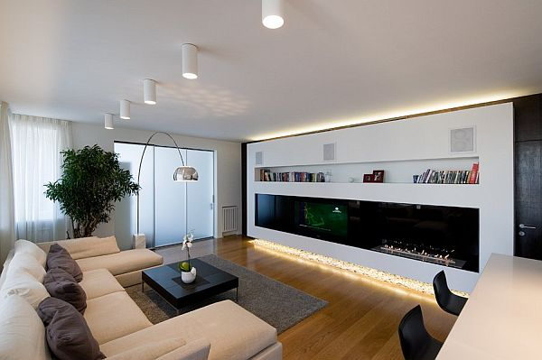 Modern Apartment in Moscow white living room