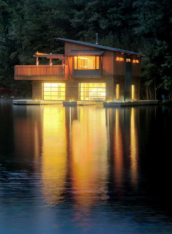 Muskoka boathouse is nostalgia reconstructed for Boat house designs plans