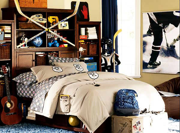 NHL Beadboard teenage boys Bedroom