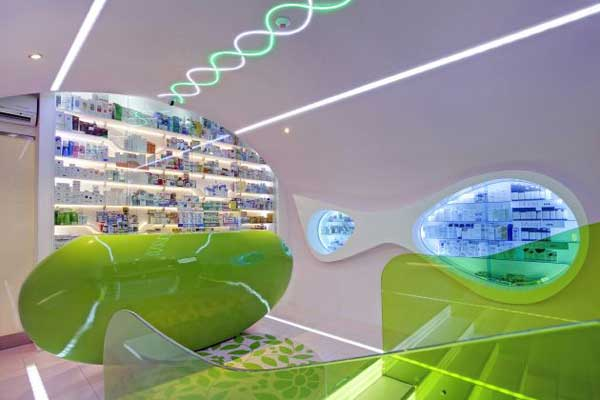 Oaza Zdravlja Pharmacy by Karim Rashid Awesome Modern Pharmacy Design by Karim Rashid